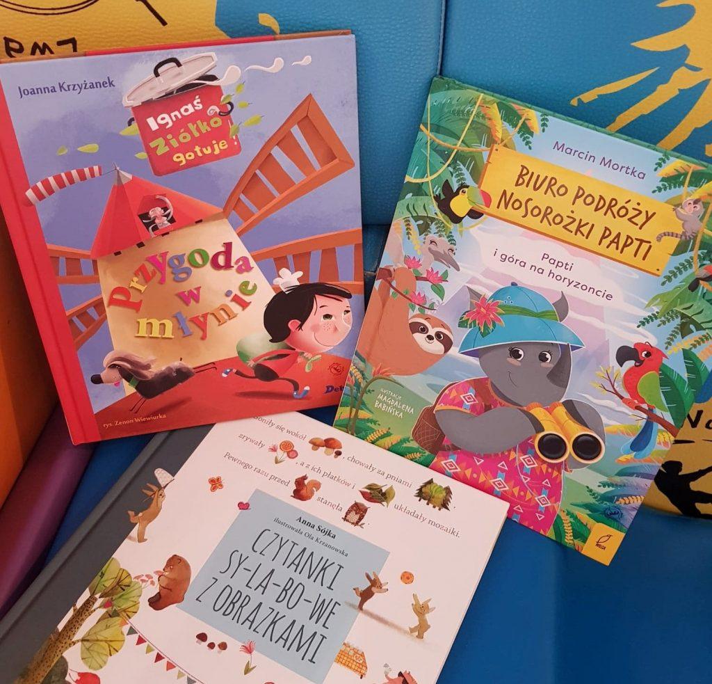 3 edukacyjne, kolorowe książki dla dzieci